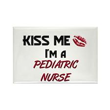 Kiss Me I'm a PEDIATRIC NURSE Rectangle Magnet