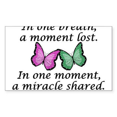 Moment's Miracle Oval Sticker