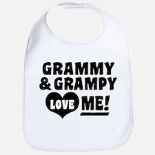 Grammy and Grampy Love Me Bib