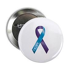 Purple/Teal Ribbon Button