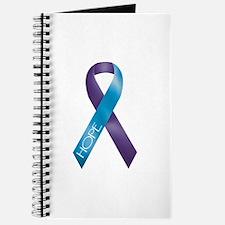 Purple/Teal Ribbon Journal