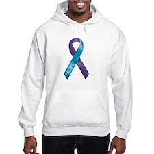 Purple/Teal Ribbon Hoodie