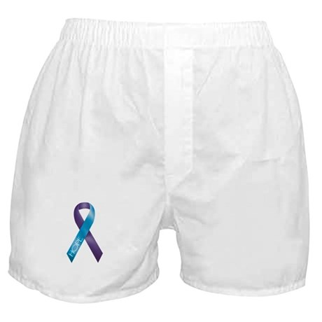 Purple/Teal Ribbon Boxer Shorts