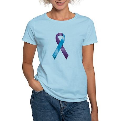 Purple/Teal Ribbon Women's Light T-Shirt