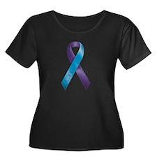Purple/Teal Ribbon T