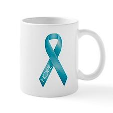 Teal Ribbon Small Mugs
