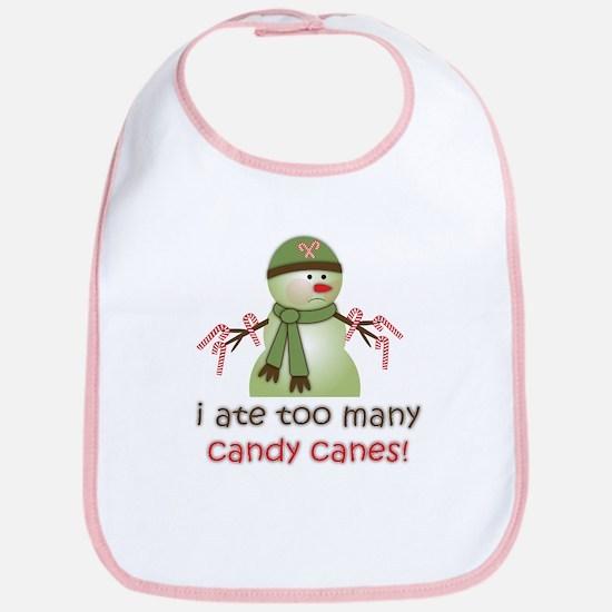 Sick Candy Cane Snowman Cotton Baby Bib