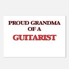 Proud Grandma of a Guitar Postcards (Package of 8)