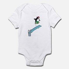 Funny Diving Penguin Infant Bodysuit