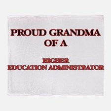Proud Grandma of a Higher Education Throw Blanket