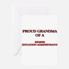 Proud Grandma of a Higher Education Greeting Cards