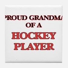 Proud Grandma of a Hockey Player Tile Coaster