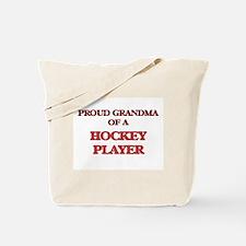 Proud Grandma of a Hockey Player Tote Bag