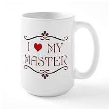 'I Love My Master' Ceramic Mugs
