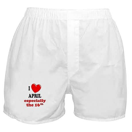 April 16th Boxer Shorts