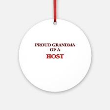 Proud Grandma of a Host Round Ornament