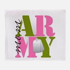 Army MOM.png Throw Blanket