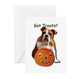 English bulldog halloween Greeting Cards (10 Pack)