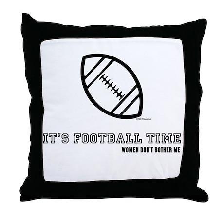 IT'S FOOTBALL TIME Throw Pillow