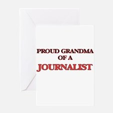 Proud Grandma of a Journalist Greeting Cards