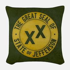 State of Jefferson - Tea Stain Woven Throw Pillow