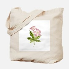 Elegant Pink Wildflowers Tote Bag