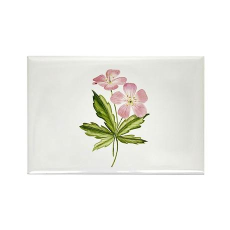 Elegant Pink Wildflowers Rectangle Magnet (100 pa