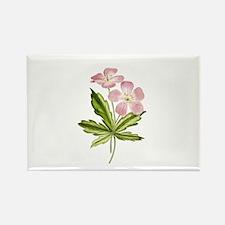 Elegant Pink Wildflowers Rectangle Magnet