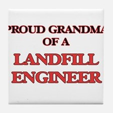 Proud Grandma of a Landfill Engineer Tile Coaster