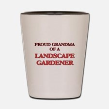 Proud Grandma of a Landscape Gardener Shot Glass