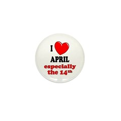 April 14th Mini Button (100 pack)