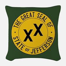 State of Jefferson Flag Woven Throw Pillow