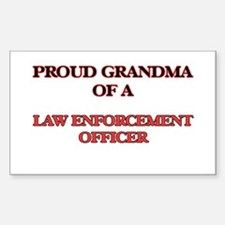 Proud Grandma of a Law Enforcement Officer Decal