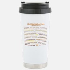 Cute 40th birthday Stainless Steel Travel Mug