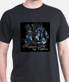 O CAPTAIN, MY CAPTAIN - Ash Grey T-Shirt