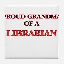 Proud Grandma of a Librarian Tile Coaster