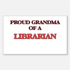 Proud Grandma of a Librarian Decal