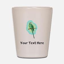 Green Conure Bird (Custom) Shot Glass