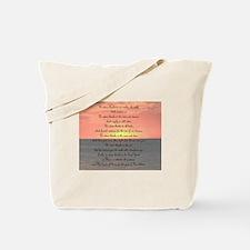 Prayer for Giving Thanks Tote Bag