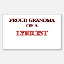Proud Grandma of a Lyricist Decal
