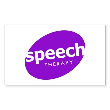 Speech Therapy Rectangle Sticker