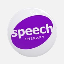 Speech Therapy Ornament (Round)