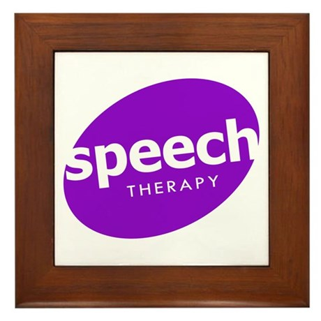 Speech Therapy Framed Tile