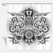 Abstract Ancient Shower Curtain