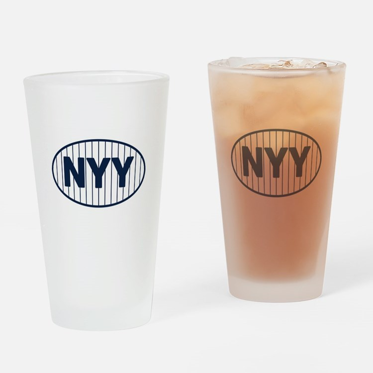 NYY Home Drinking Glass