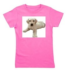 Cute Yellow lab Girl's Tee