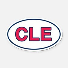 CLE Home Oval Car Magnet