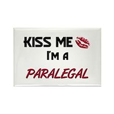 Kiss Me I'm a PARALEGAL Rectangle Magnet