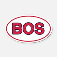 BOS Home Oval Car Magnet