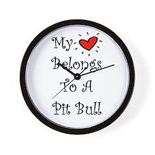 My Heart Belongs To A PB Wall Clock